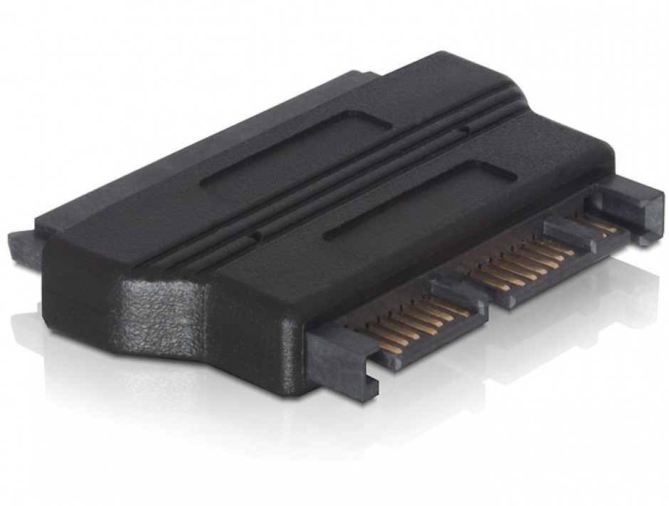 Imagine Adaptor micro SATA 16 pini la SATA 22 pini T-M, Delock 61695