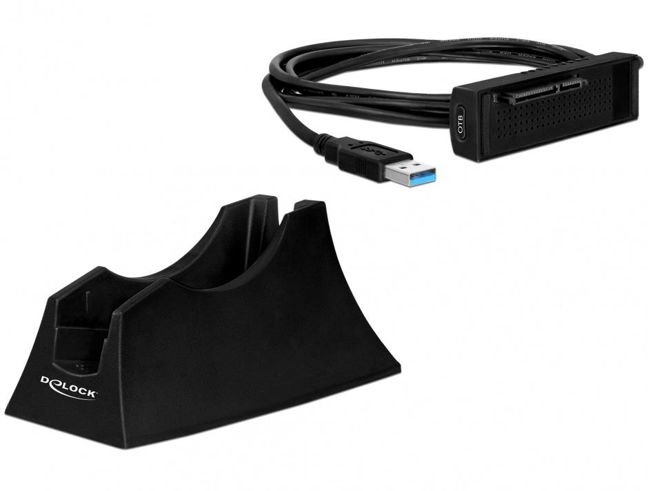 "Imagine Docking Station SATA HDD 2.5""/3.5"" la USB 3.0, Delock 61858"