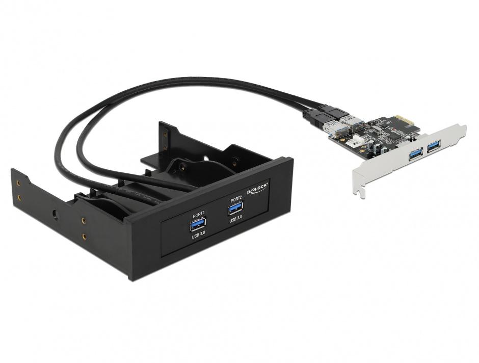 Imagine Front Panel 2 x USB 3.0 + PCI Express Card 2 x USB 3.0, Delock 61893