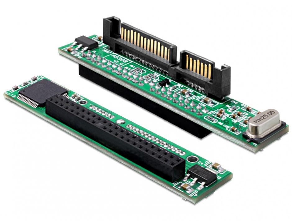 Imagine Convertor 2.5 IDE HDD 44 pini la SATA 22 pini, Delock 61987