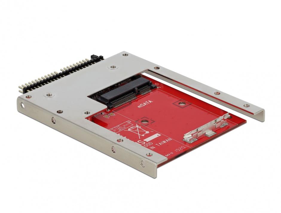 """Imagine Convertor IDE 44 Pini la mSATA + frame 2.5"""" (pana la 7 mm), Delock 62495"""