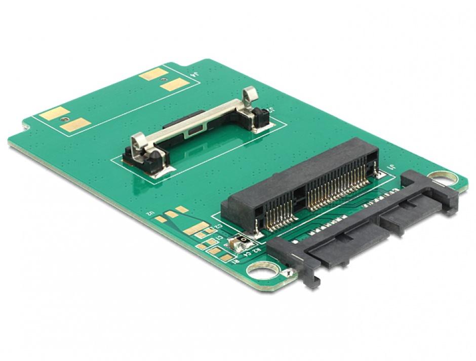 Imagine Convertor Micro SATA 16 pini la mSATA half size, Delock 62519