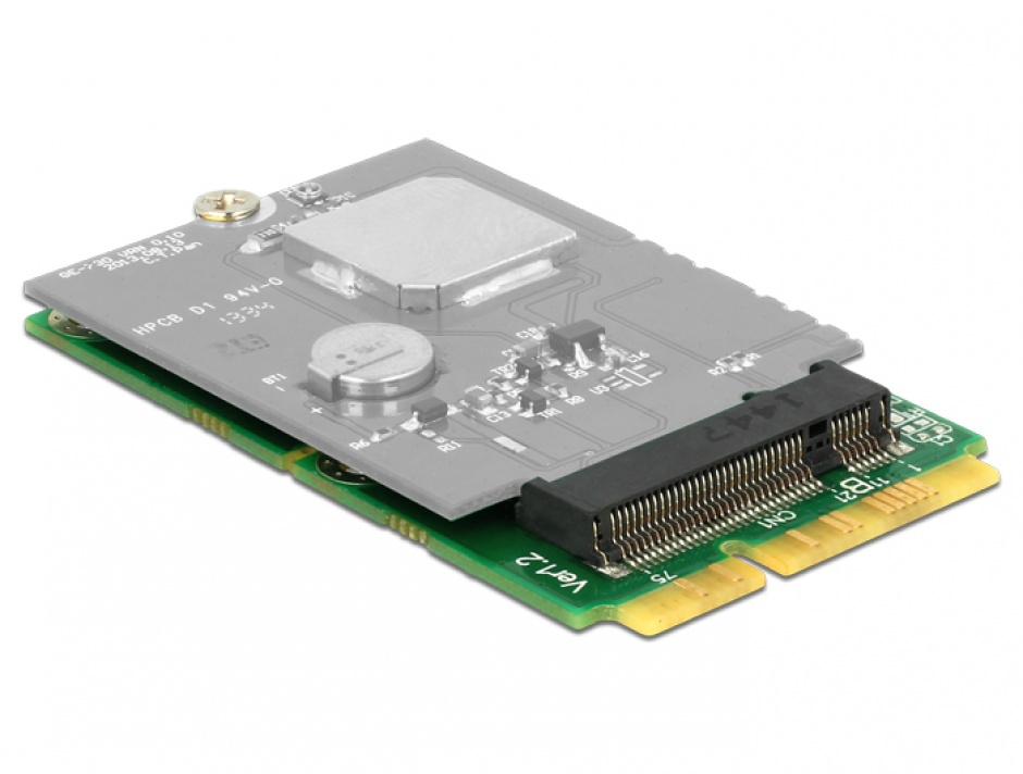 Imagine Adaptor mini PCIe la M.2 NGFF key B, Delock 62654