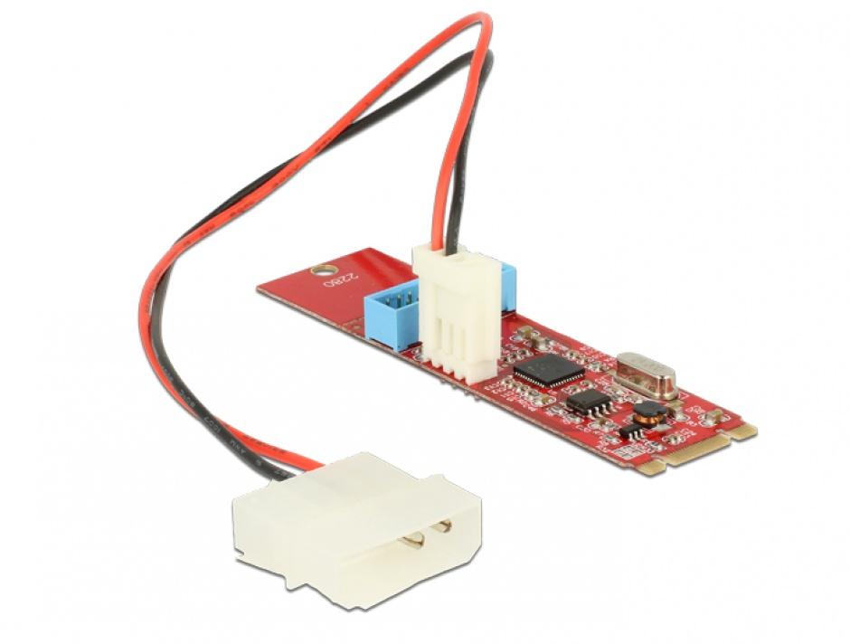 Imagine Convertor M.2 Key B+M la 1 x Pin Header USB 3.0, Delock 62842