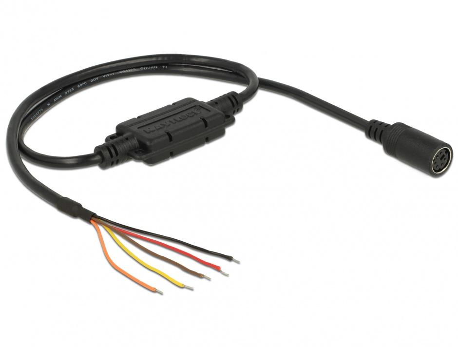 Imagine Cablu MD6 socket serial la 5 fire deschise LVTTL (3.3 V) 52cm, Navilock 62928