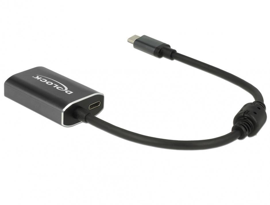Imagine Adaptor USB-C la HDMI (DP Alt Mode) 4K 60 Hz T-M cu PD (Power delivery), Delock 62988