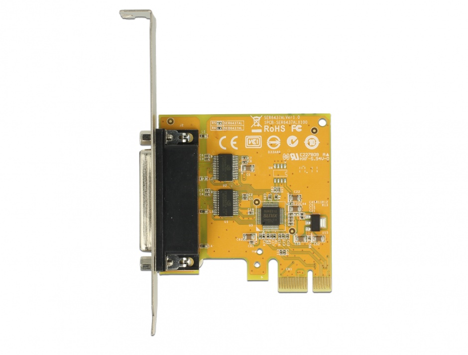 Imagine PCI Express la 2 x Serial RS-232 high speed 921K protectie ESD, Delock 62996