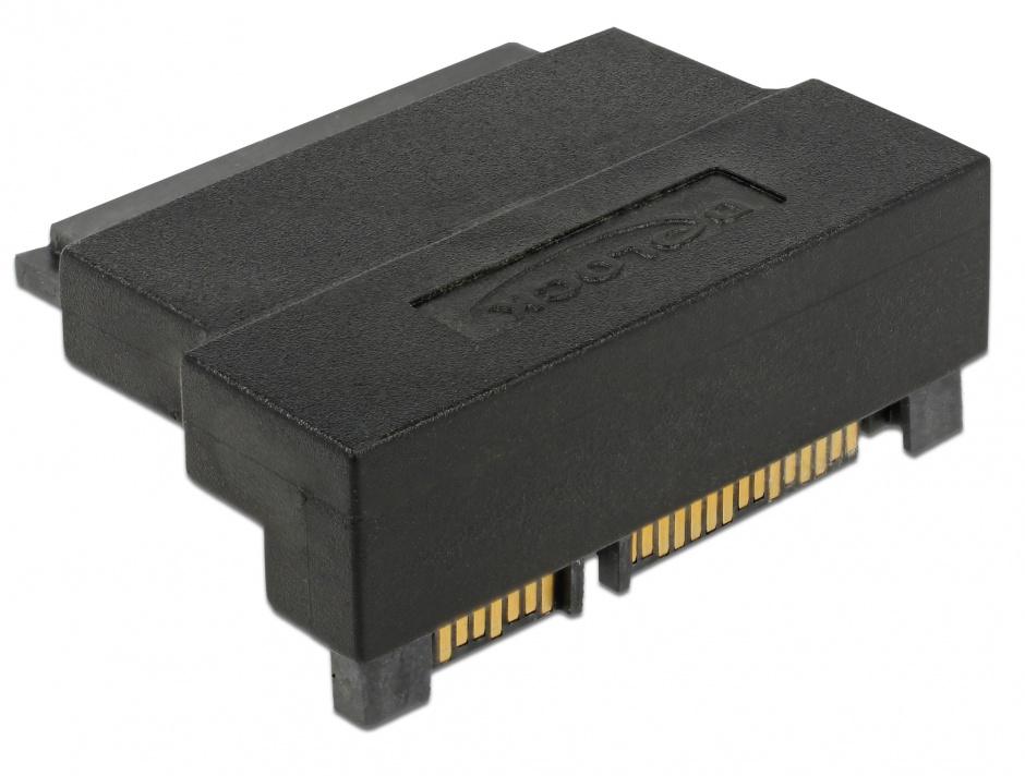 Imagine Adaptor SATA 22 pini T-M unghi 90 grade sus, Delock 63944