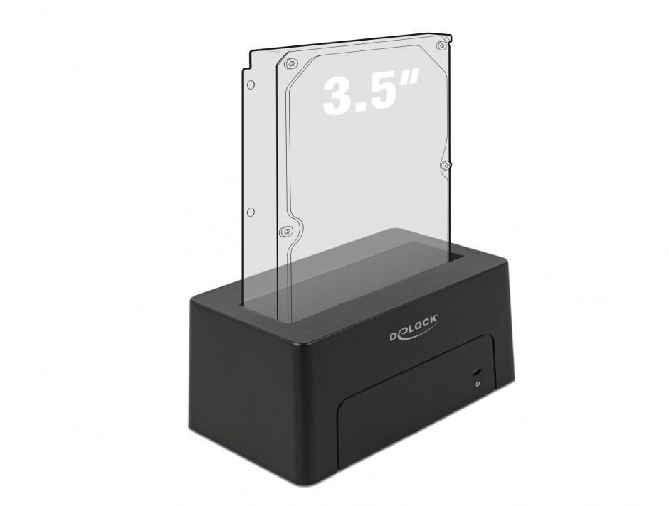 "Imagine Docking Station USB 3.1-C pentru HDD/SSD SATA 2.5""+3.5"", Delock 63958"