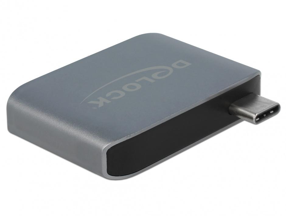 Imagine Adaptor audio USB-C la jack stereo 3.5mm + USB-A T-M, Delock 63965