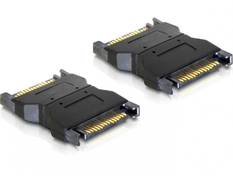 Imagine Adaptor alimentare SATA 15 pini T - T, Delock 65043