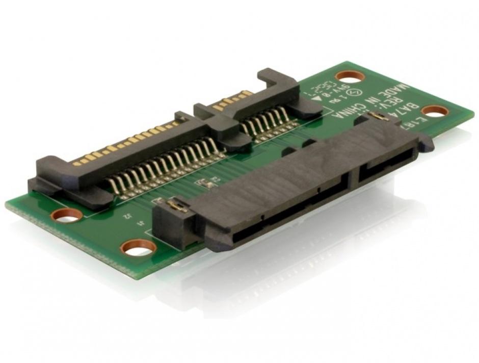 Imagine Adaptor Extensie SATA 22 pini T - M, Delock 65092