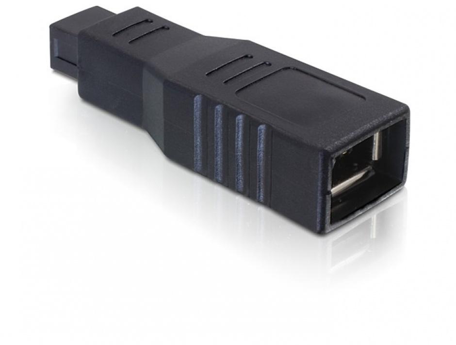 Imagine Adaptor FireWire 9 pini la 6 pini T-M, Delock 65154