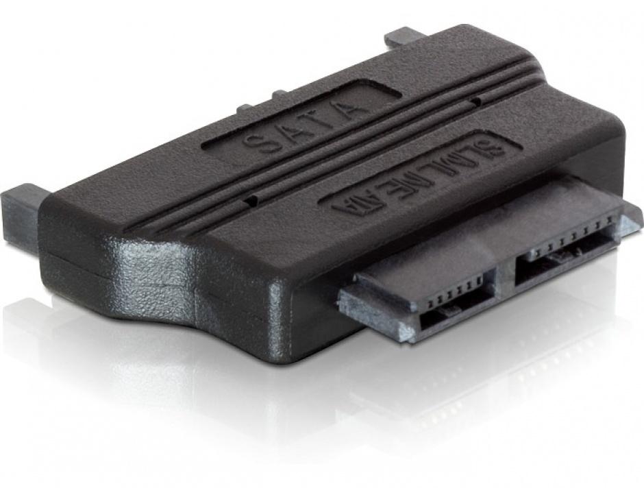Imagine Adaptor SATA 22 pini la Slim SATA 13 pini T-M, Delock 65156