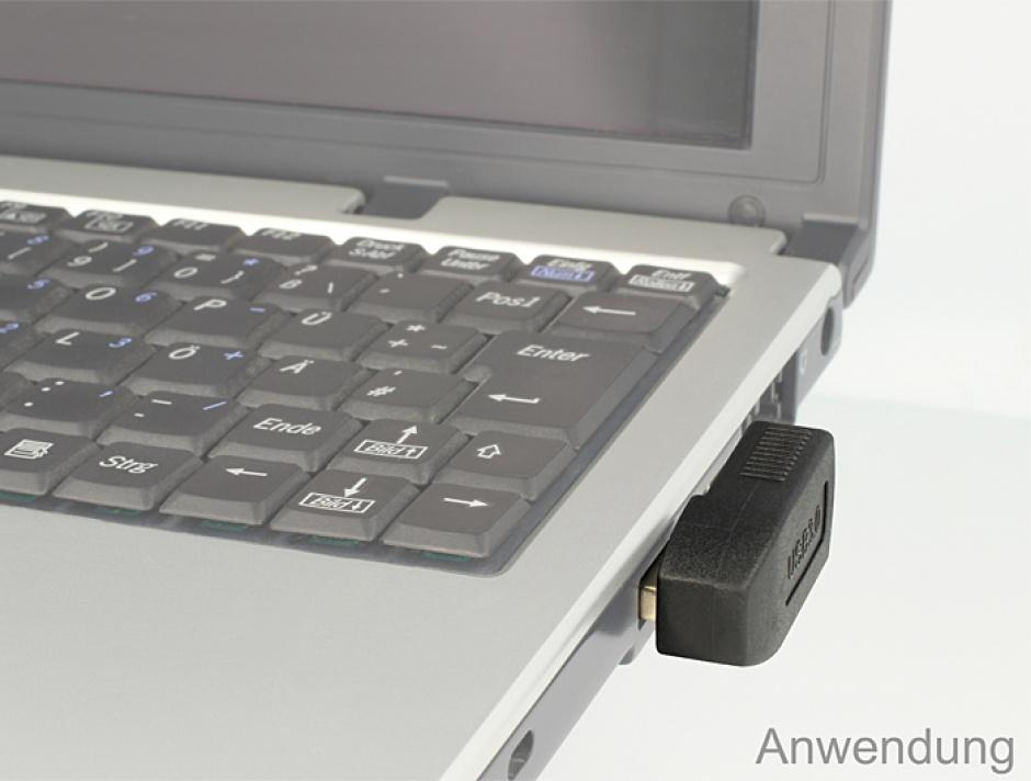 Imagine Adaptor USB 3.0 tata-mama la 90 grade, orizontal, Delock 65341