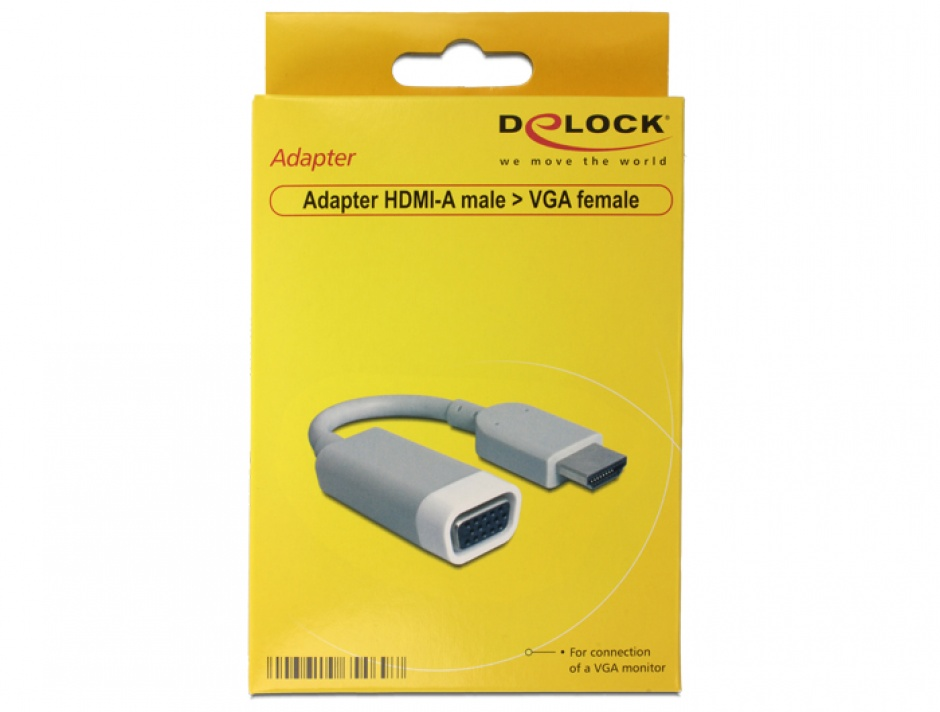 Imagine Adaptor HDMI la VGA T-M, Delock 65469