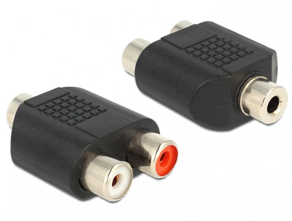 Imagine Adaptor audio stereo jack 3.5mm la 2 x RCA M-M, Delock 65515