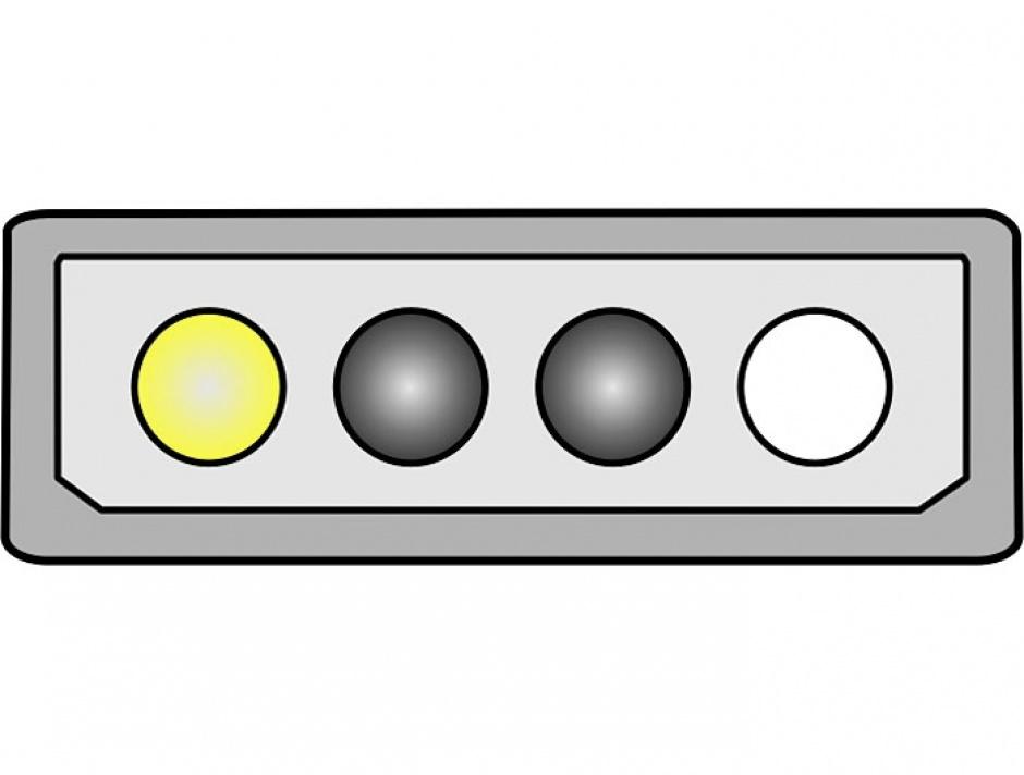 Imagine Cablu alimentare P4 la Molex 4 pini T-T 30cm, Delock 65611