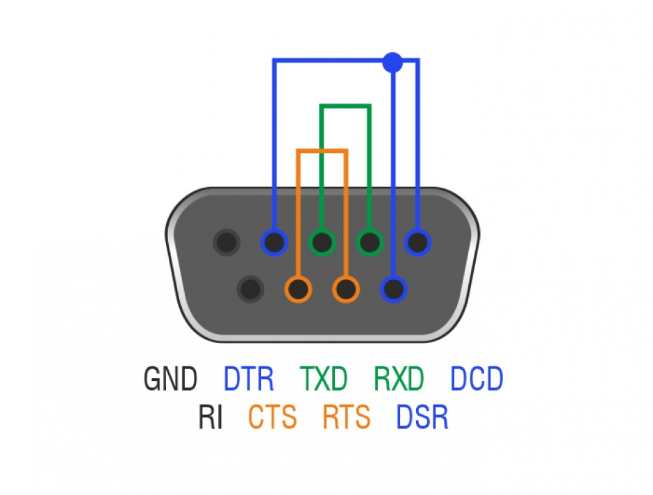 Imagine Adaptor RS-232 DB9 Loopback mama, Delock 65843