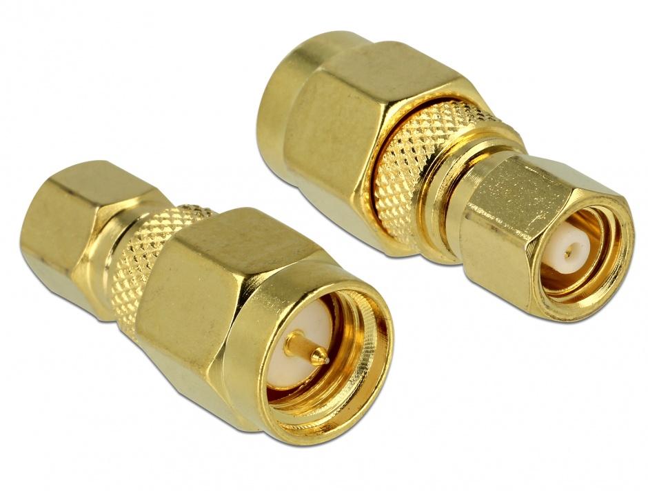 Imagine Adaptor SMC plug la SMA plug, Delock 65856