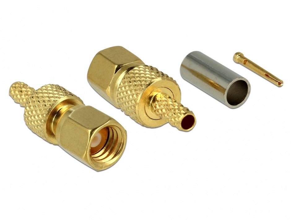 Imagine Conector SMC plug for crimping RG-174 / RG-316, Delock 65859