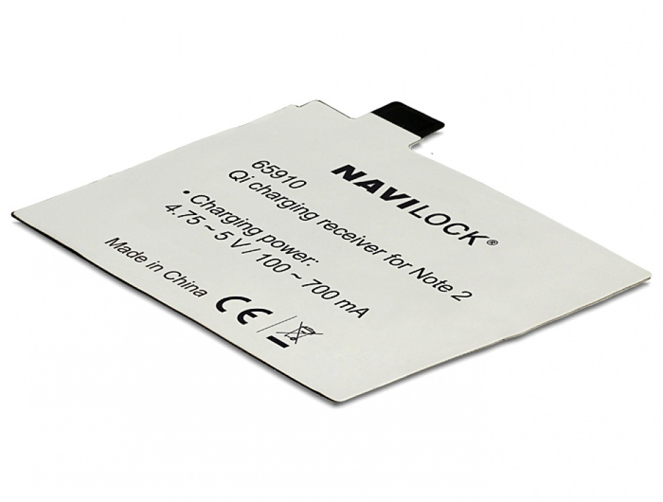 Imagine Receptor intern Qi Charging pentru Samsung Galaxy Note 2, Navilock 65910