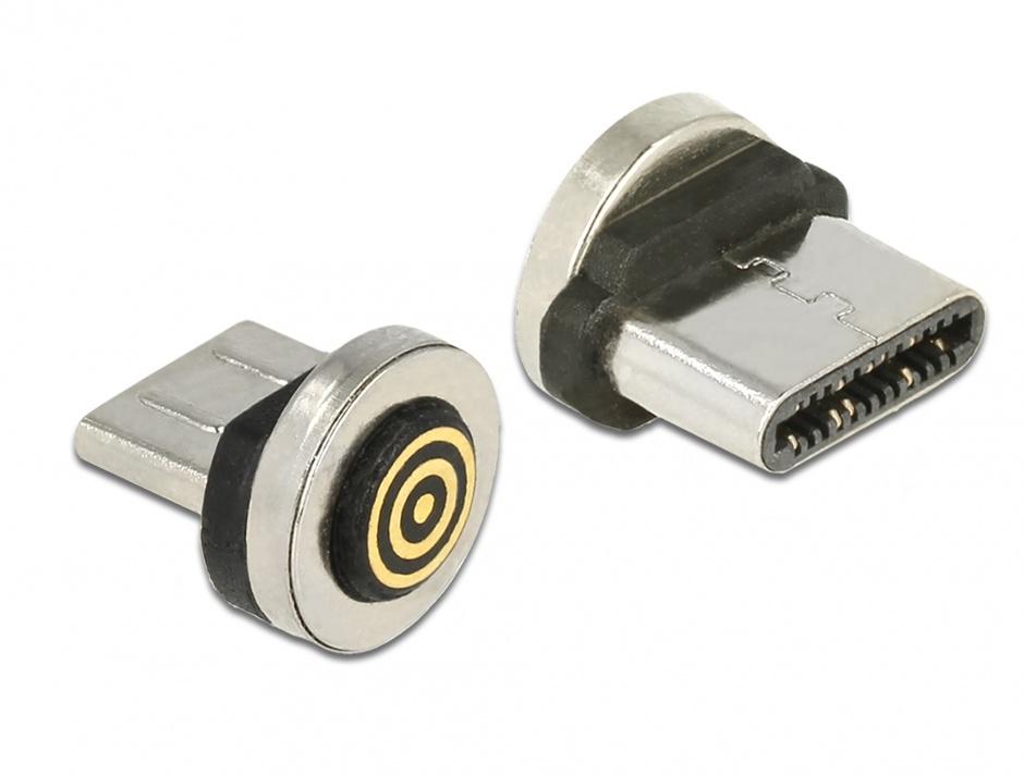 Imagine Adaptor magnetic incarcare + transfer date USB-C pentru 85723/85724, Delock 65933