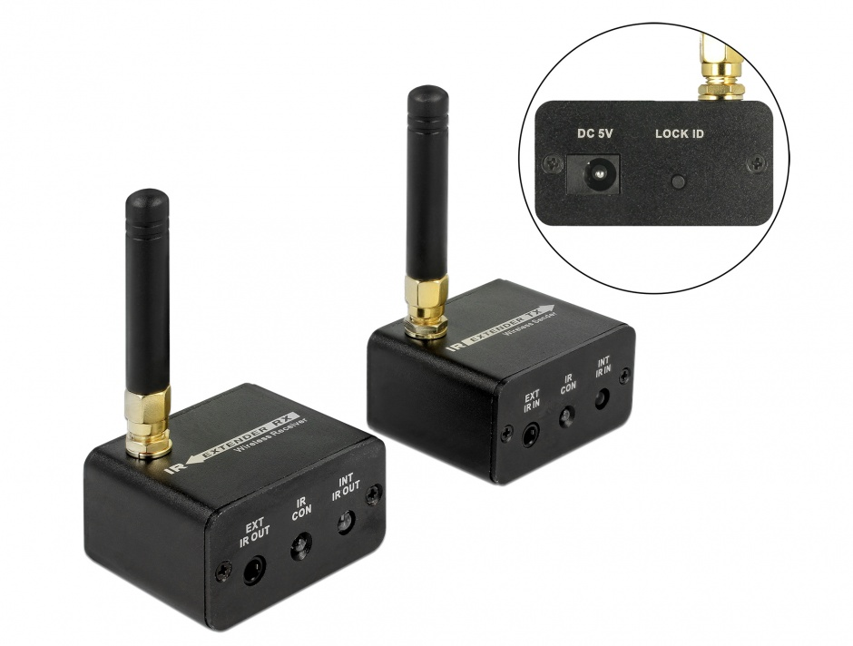 Imagine Set de extensie wireless cu infrarosu, Delock 65949