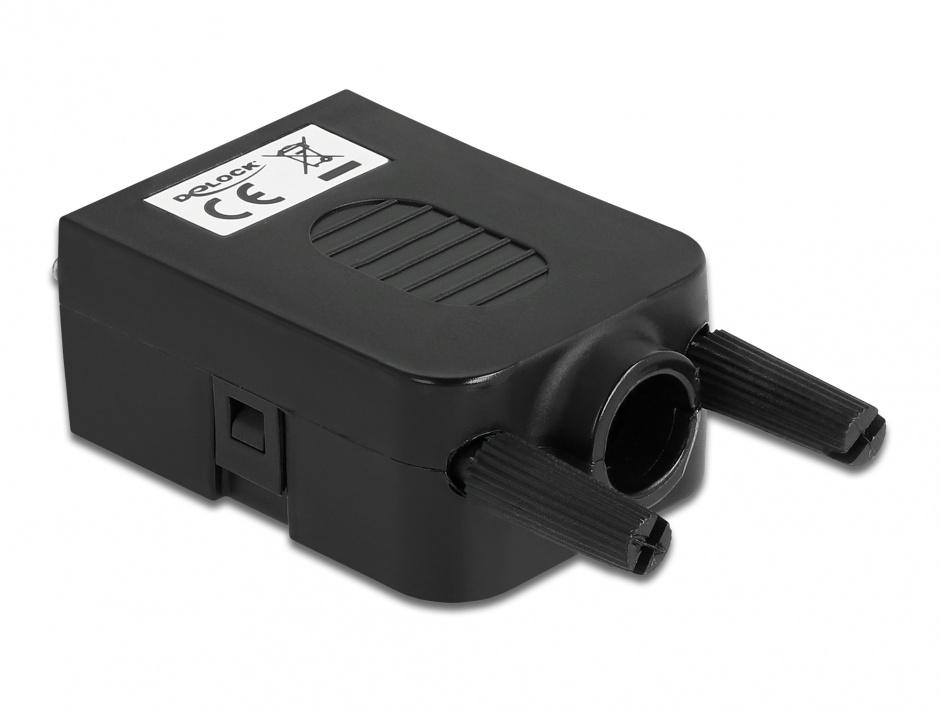 Imagine Terminal block 10 pini la VGA 15 pini mama + carcasa, Delock 66259