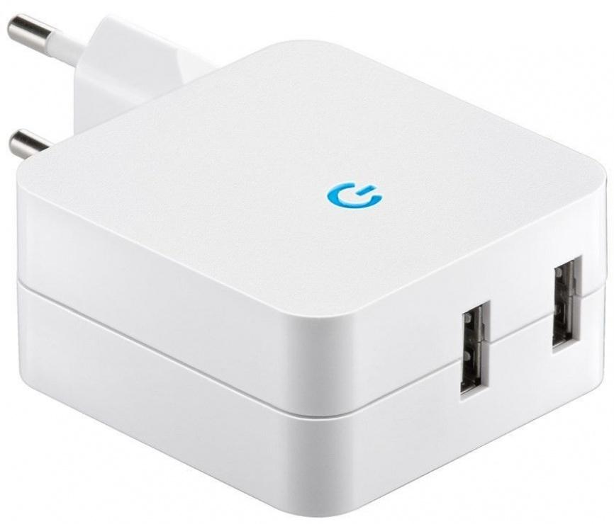 Imagine Incarcator priza 230V la 2 x USB 4.1A, Goobay 67930