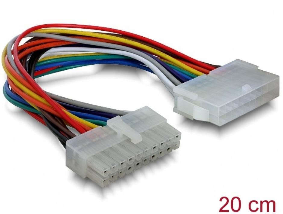 Imagine Cablu prelungitor 20 pini pentru placa de baza ATX, Delock 82120