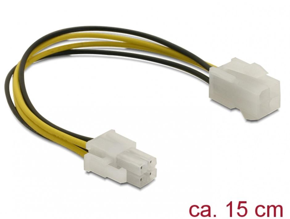 Imagine Cablu prelungitor alimentare intern P4 T-M, Delock 82428