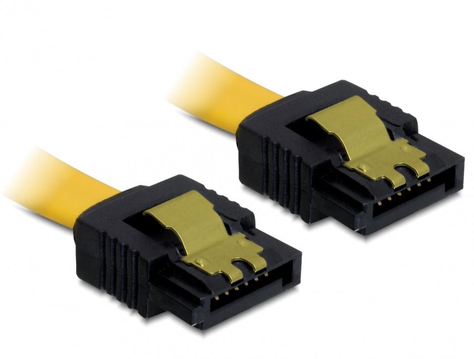 Imagine Cablu SATA II 3 Gb/s drept cu fixare, 30 cm, Delock 82473