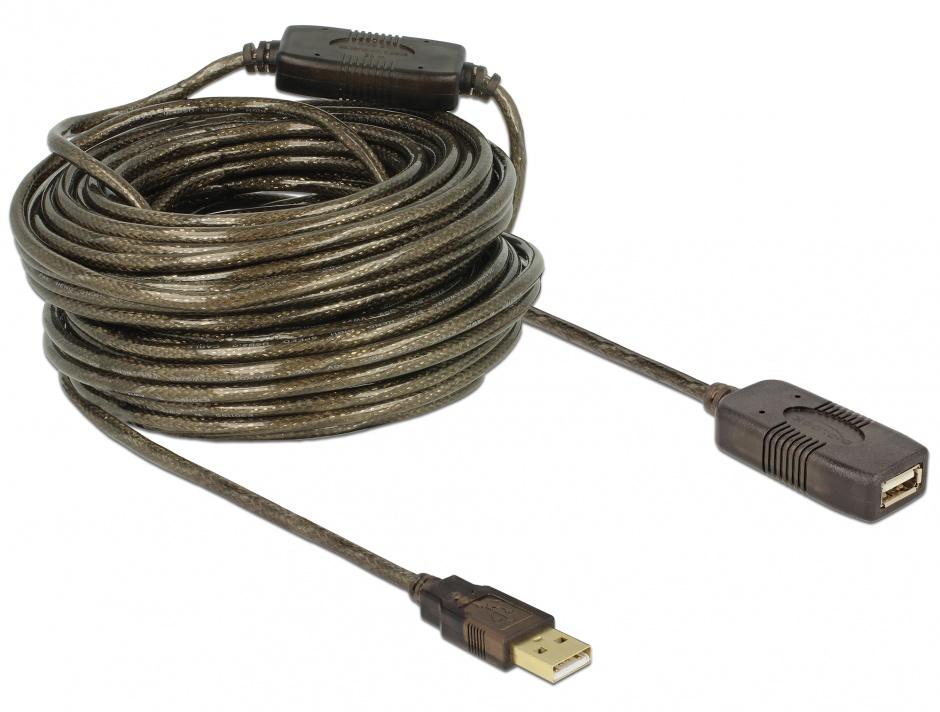 Imagine Cablu prelungitor activ USB 2.0 T-M 20m, Delock 82690