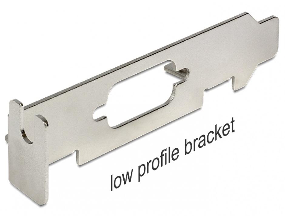 Imagine Slot Bracket low profile pentru SUB-D 9, Delock 82713