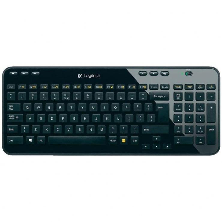 Imagine Tastatura Wireless Negru, Logitech K360