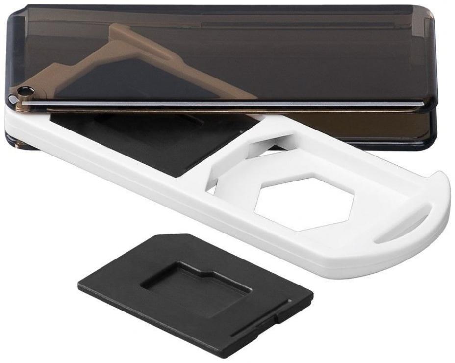 Imagine Cutie pentru depozitare carduri de memorie 2x SD/Micro SD/MMC, Goobay 95350
