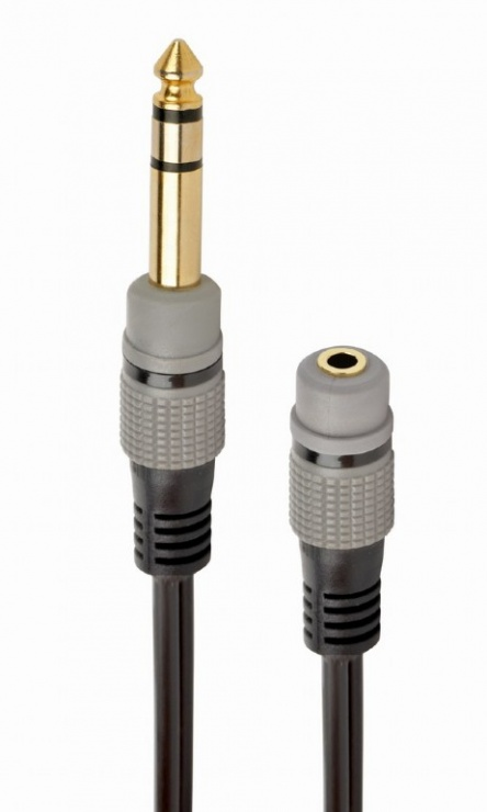 Imagine Adaptor audio jack stereo 3.5mm la jack 6.35mm M-T 20cm, Gembird A-63M35F-0.2M