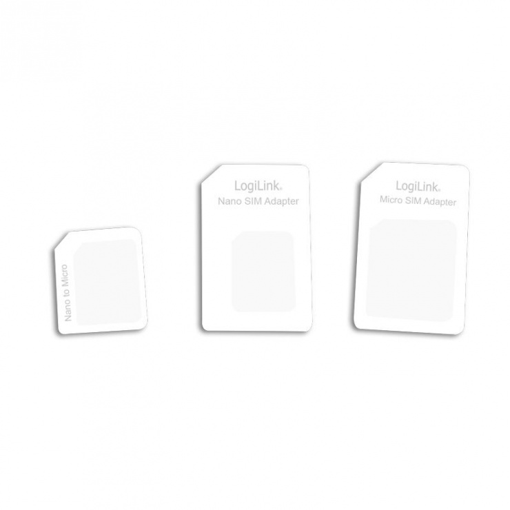 Imagine Adaptor SIM (nano-micro/nano-standard/micro-standard), Logilink
