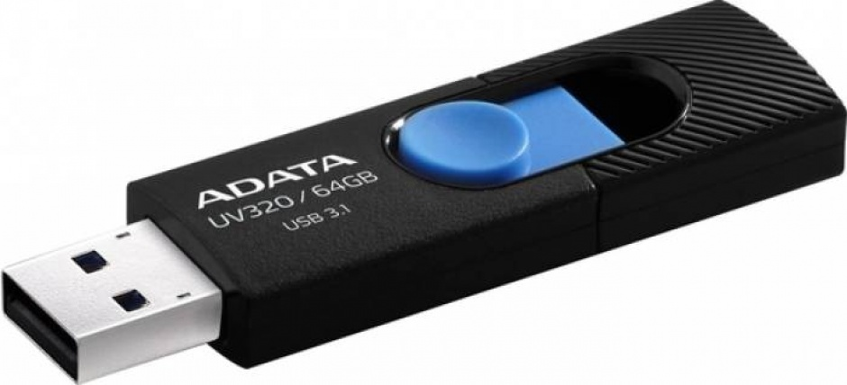 Imagine Stick USB 3.2 Gen 1 64GB, ADATA AUV320-64G-RBKBL
