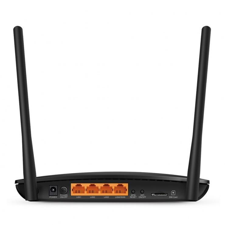Imagine Router 4 porturi wireless AC750, Dual Band 4G LTE, TP-Link Archer MR200