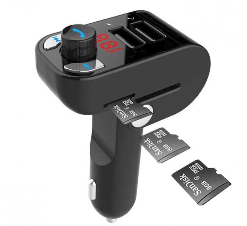 Imagine Incarcator auto/modulator 3 in 1 cu radio FM + Bluetooth + slot micro SD 3.1A, Gembird BTT-02