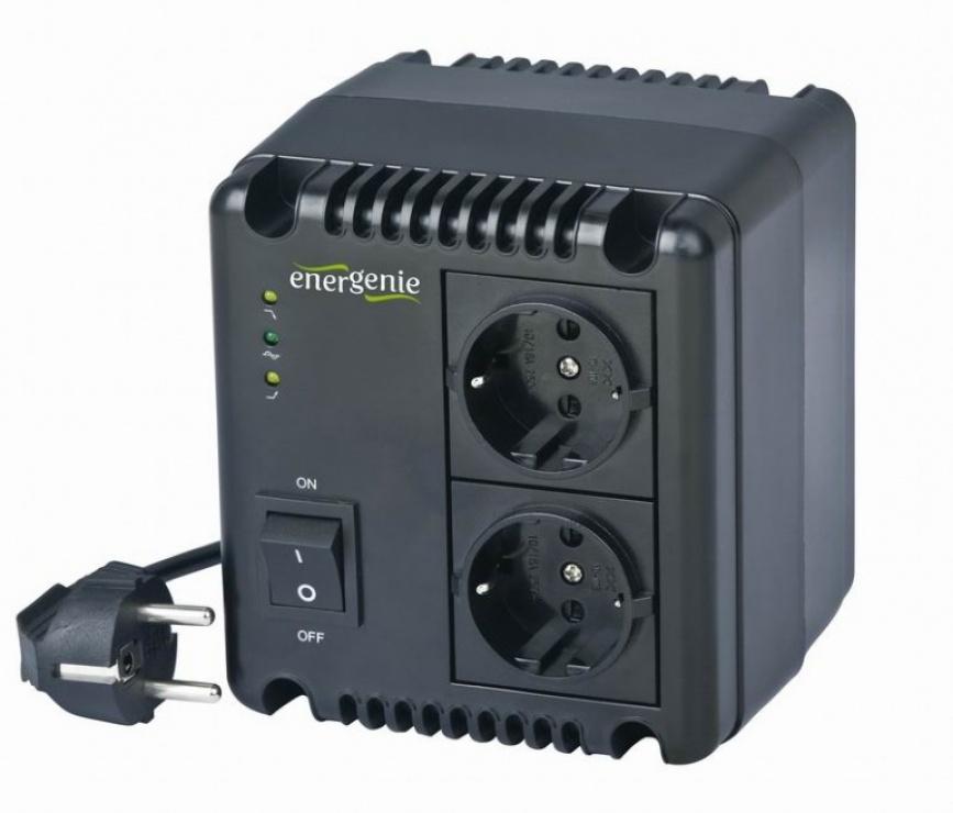 Imagine Stabilizator tensiune 800VA, Energenie EG-AVR-0801