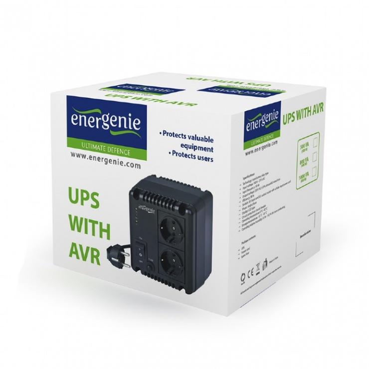 Imagine Stabilizator tensiune 500VA, Energenie EG-AVR-0501-3