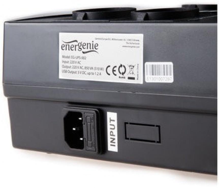 Imagine UPS 650VA line interactive de 650VA si 390W, Gembird EG-UPS-001-3