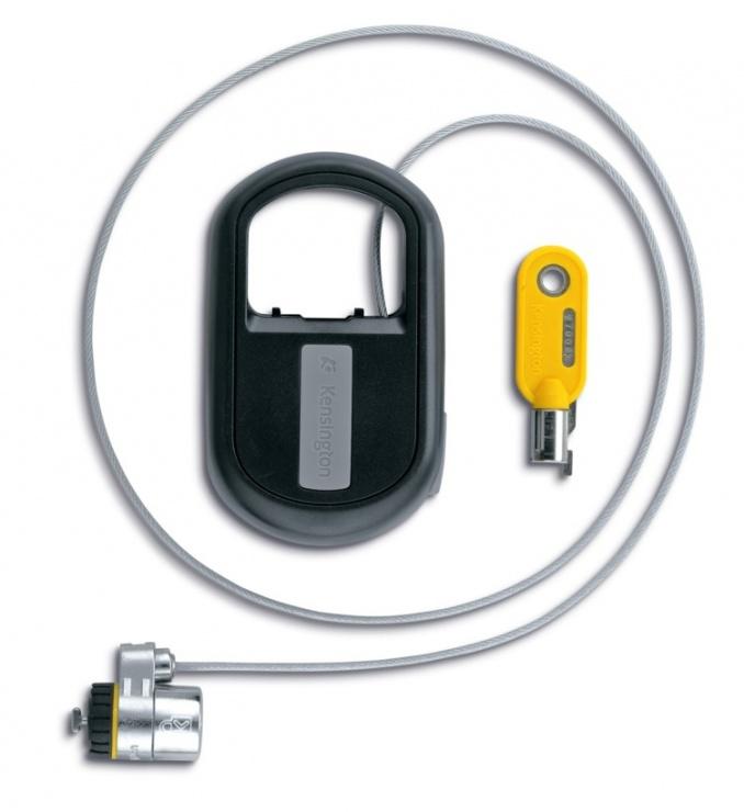 Imagine Cablu antifurt notebook Kensington MicroSaver, otel, retractabil, 1.2m avertizare furt, doua chei, K64538EU