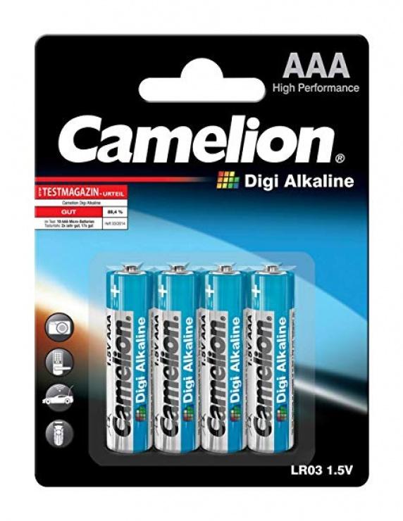 Imagine Set 4 baterii AAA LR3 1.5V Digi Alkaline, Camelion