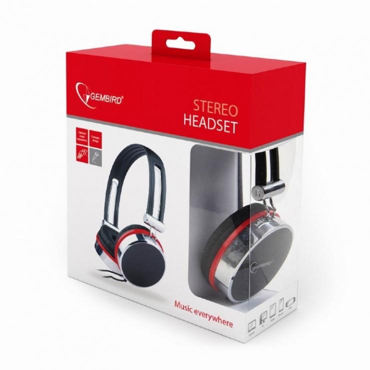 Imagine Casti stereo cu microfon, Gembird MHS-903-2