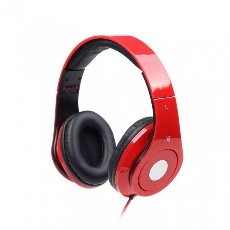 Imagine Casti stereo Detroit Red, Gembird MHS-DTW-R