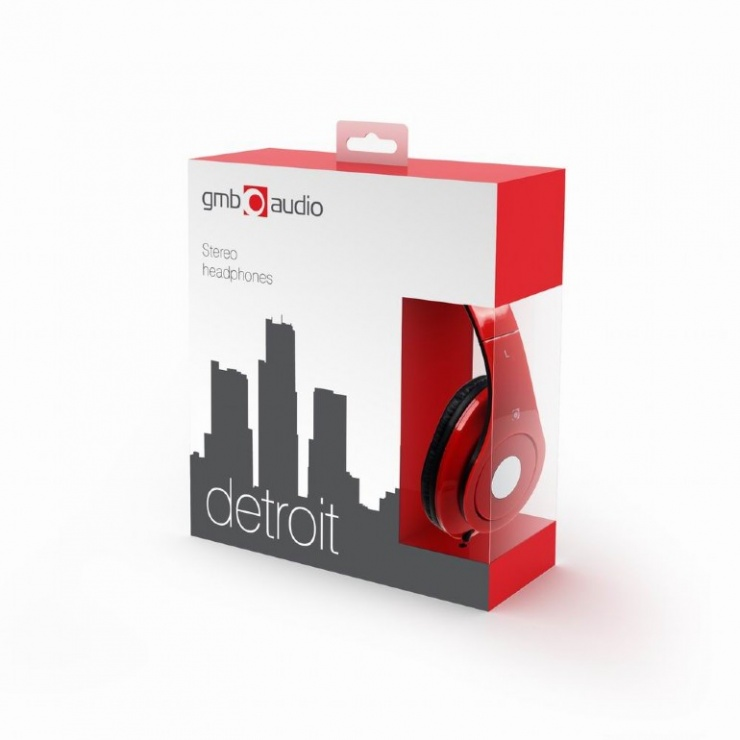 Imagine Casti stereo Detroit Red, Gembird MHS-DTW-R-4